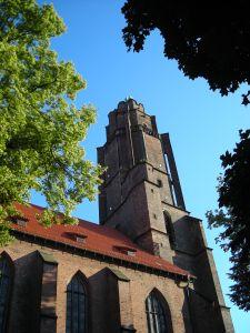 Panorama Gliwic z wieży kościoła Wszystkich Świętych